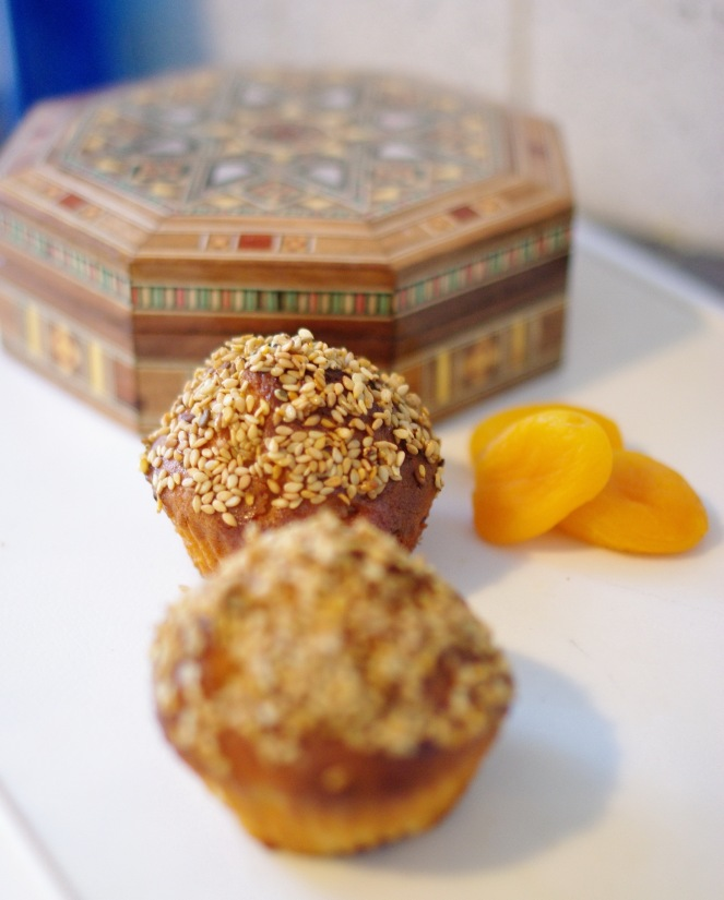 Muffins abricot sésame