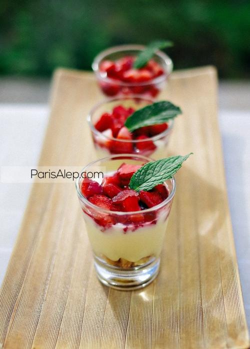 verrines tarte aux fraises