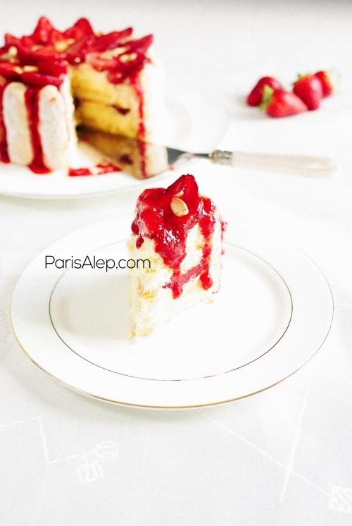 Charlotte fraises amandes