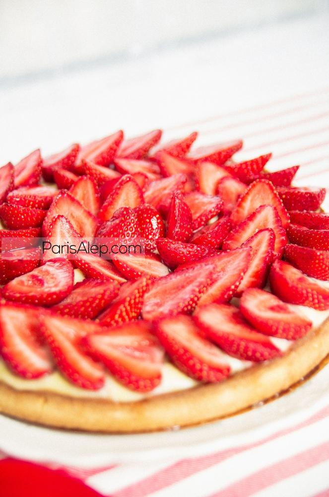 Tarte aux fraises pâtissière