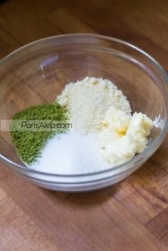 crème amandine pistaches