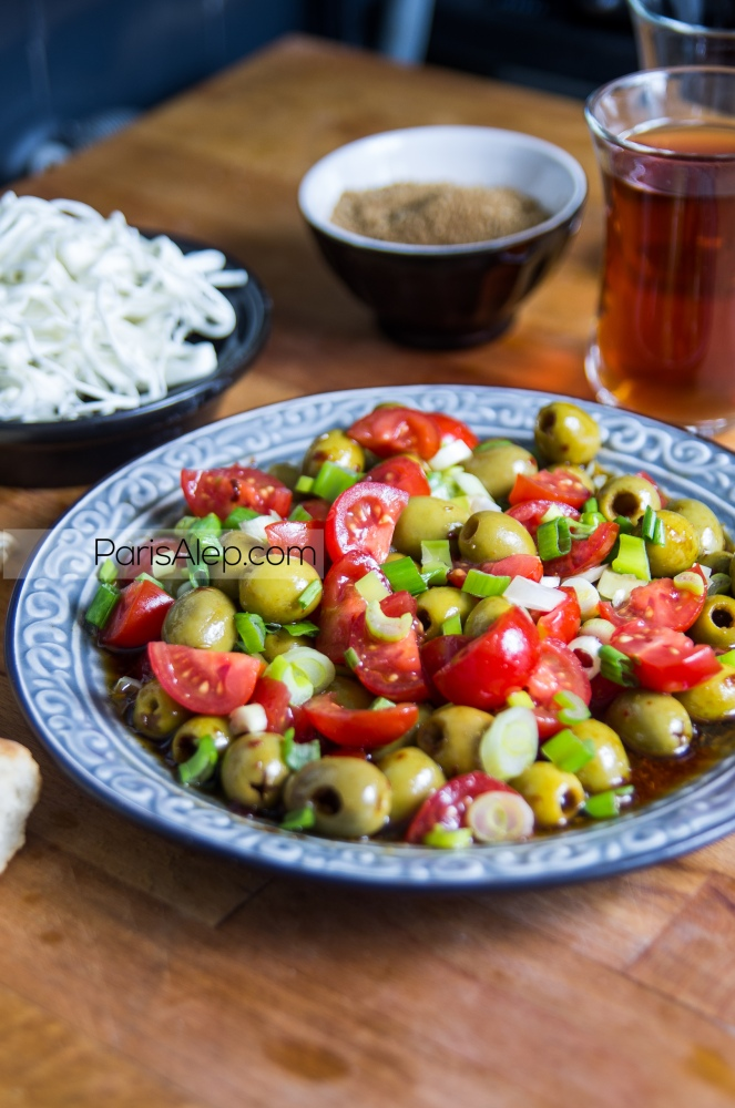 salade olives syrienne