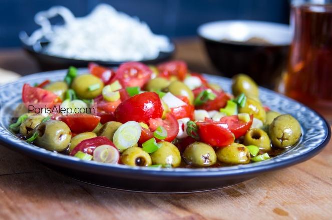 Salade olives syrie