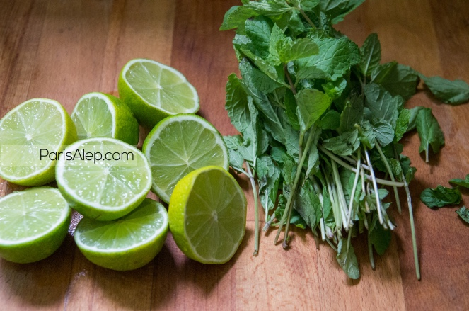 citrons verts menthe