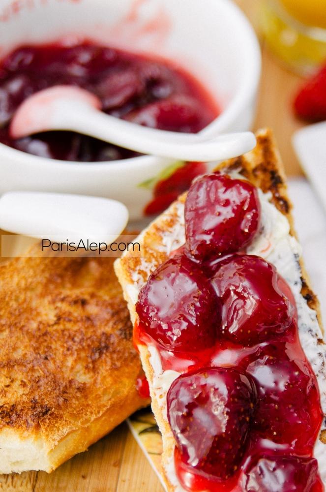 tartine fraises